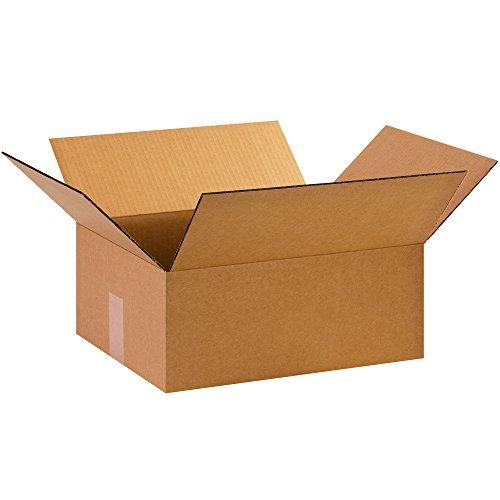 """BOX USA B1512675PK Corrugated Boxes, 15"""" L x 12"""" W x 6"""" H, Kraft (Pack of 75) from BOX USA"""