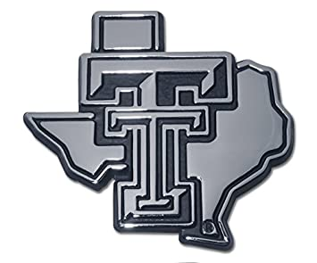 Chrome Many Different Colors Available! Texas Tech University Red Raiders METAL Auto Emblem