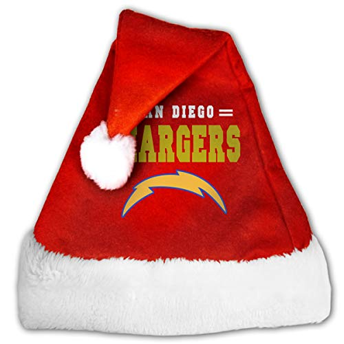 Cap San Diego Halloween Party (GFHM111 San Diego Chargers Christmas Santa Hat Plush Claus Cap Xmas Hat for Adults and Kids)