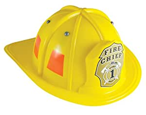 Aeromax Jr. Firefighter Helmet, Yellow, Adjustable Youth Size