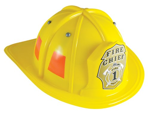 Fire Chief Kids Costumes (Aeromax Jr. Firefighter Helmet, Yellow, Adjustable Youth Size)
