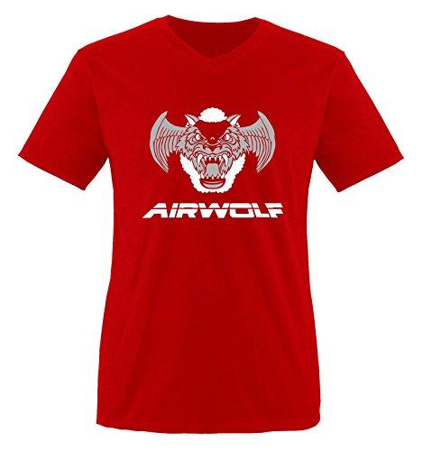 Rojo Manga Hombre grau Camiseta Weiss wolf Corta Air Rot qzZX7Z