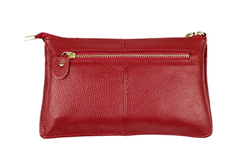Volyer Shoulder Purse Handbag Clutch Bag Leather Bag Wine Women's wOfRq6