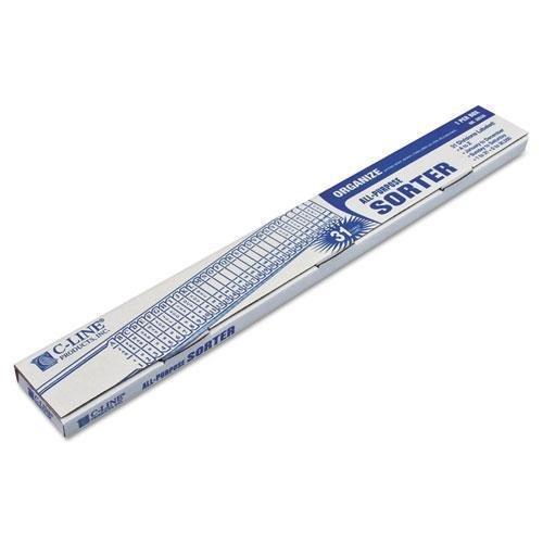 - C-Cline 30526 Sorter, A-Z/1-31/Jan-Dec/Sun-Sat/0-30,000 Index, Letter Size, Plastic, Blue
