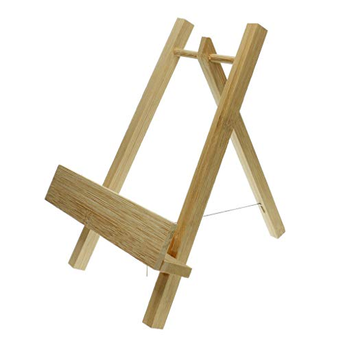 BROSCO Mini Artist Easel Wood Painting Easel Stand Paint Holder Wedding Table Decor | Color - #3