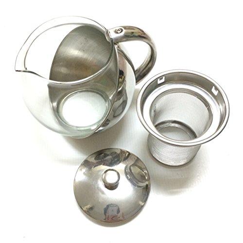 Half-Moon Teapot and Tea Strainer Set & Lid Teapot Kettle Kitchen Dining 25.36 oz. by Pisana1979 (Image #5)