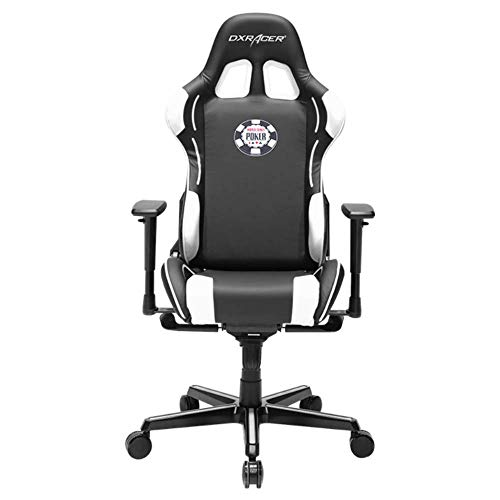 DXRacer OH/FY181/NW/POKER Special Edition WSOP Formula Series Gaming Chair Ergonomic High Backrest Office Computer Chair Esports Chair Swivel Tilt and Recline w/Headrest and Lumbar Cushion + Warranty