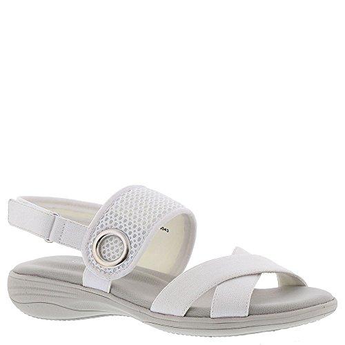 Easy Street Sport Shae Criss Cross Sandals, White Canvas