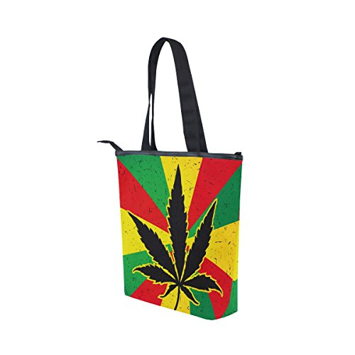 Marijuana Bag Leaves Handbag Shoulder Womens MyDaily Cannabis Canvas Tote qtTwwRI