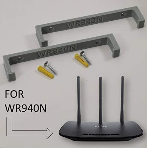 Black TP Link WR940N Wireless Router Wall Mount Wall Bracket