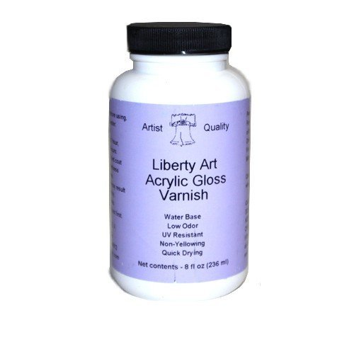 Liberty Art Brush On Gloss Varnish - Perfect substitute for JW Right Step Varnish! (8 Ounce Jar) by Liberty