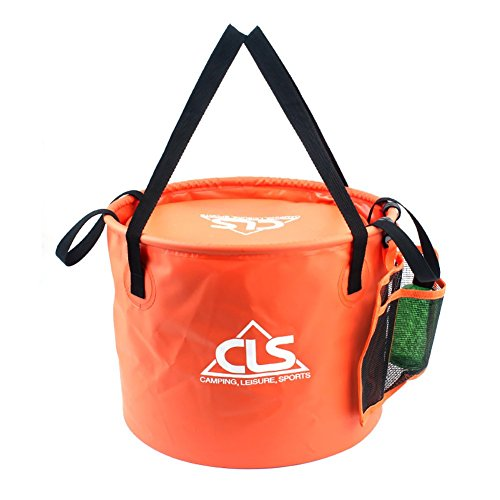 - FuLanDe Portable Multifunctional Foldable Collapsible Outdoor Wash Basin Bucket for Camping Hiking Fishing Traveling with Carrying Pouch