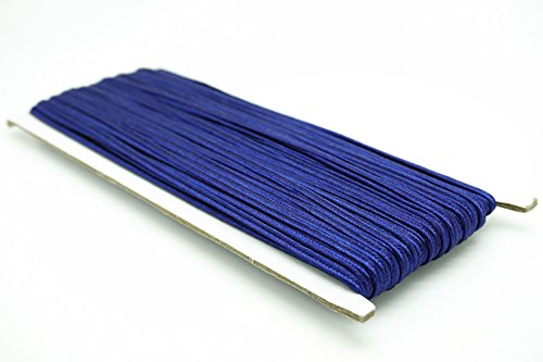 (NAVY BLUE 3mm Polyester Soutache Braid Cord String Beading Sewing Quilting Trimming - 30 Yards)