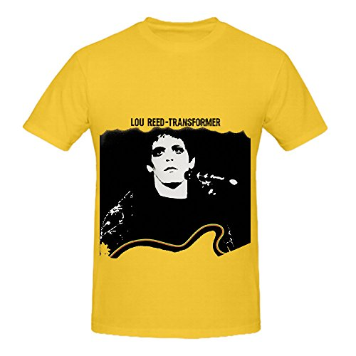 Lou Reed Transformer Soul Mens Round Neck Big Tall Shirts (Wii Sonic Transformers)