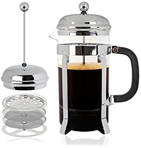 Mr. Kitchen French Press; Glass Coffee Press, 8 Cup / 34 oz
