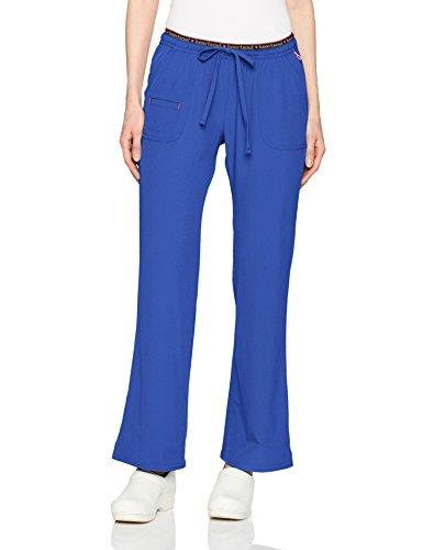 HeartSoul Scrubs Women's Break On Through Heart Breaker Low Rise Drawstring Pant, Galaxy Blue, ()