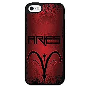 Red and Black Aries Horoscope Hard Snap on Phone Case (iPhone 5c)