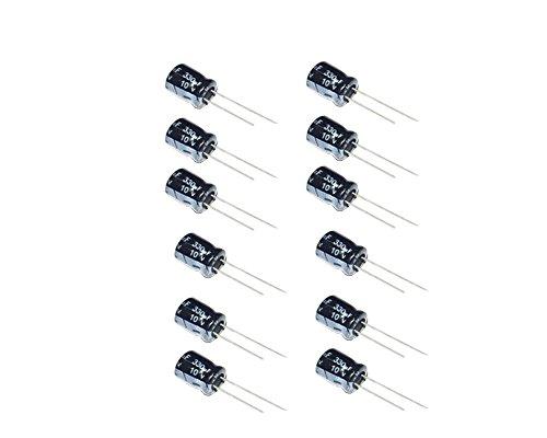 330uF 10V 6X11 +/-20% -40 to +105°C 50 PCS Aluminum Electrolytic Capacitors (Capacitor Aluminum)