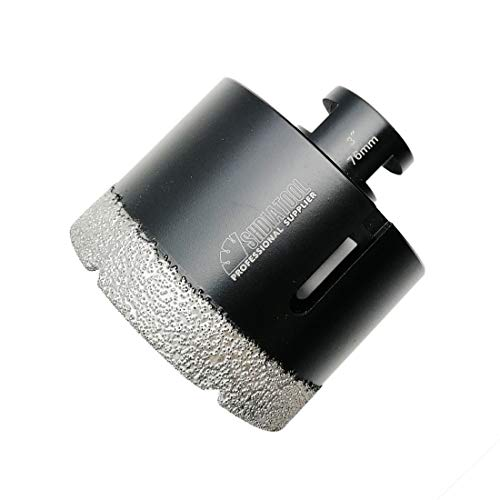 SHDIATOOL Diamond Core Drill Bits 3 Inch for Porcelain Ceramic Tile Marble Brick Vacuum Brazed Hole saw 76mm (15mm Diamond Drill Bit)