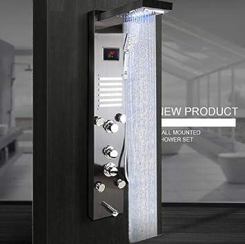 LED Ducha de Baño Grifo de Temperatura Pantalla Digital Panel de ...
