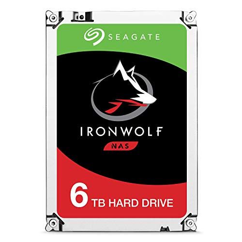 Seagate ST6000VN0033 Iron Wolf Multimedia Server Storage 6TB Internal Hard Drive 3.5