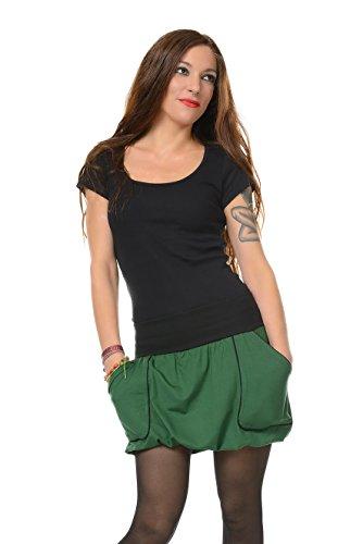 Femme boule des in avec Casual Berlin made courte Vert de 3Elfen Jupe poches HZqn0x1U