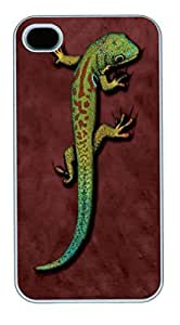 IPhone 4S Cases Bright Eyes Lizard Polycarbonate Hard Case Back Cover for iPhone 4/4S White