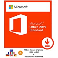 Microsoft® Office 2019 Standard 32 Bits & 64 Bits - Clé de Licence Originale par Postale et E-Mail + Instructions de TPFNet® - Livraison Maximum 60min