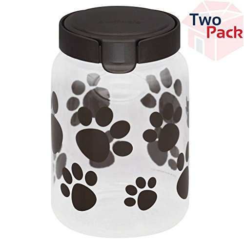 Snapware Airtight Food Storage Pet Treat Canister, 9.8 Cup, 2-Pack