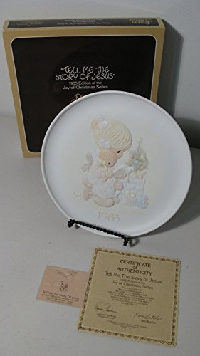 Tell Me the Story of Jesus Precious Moments Joy of Christmas Collector Plate Jesus Collector Plate