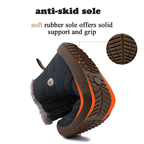 Men On Slip for Proof Ankle Blue Unisex Sneakers Outdoor Boots SITAILE Booties Women Fuzzy Shoes Winter Snow Water WOz5ZX8Xqn