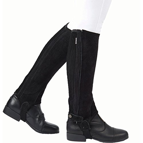 - Dublin Adult Suede II Half Chaps Medium Black