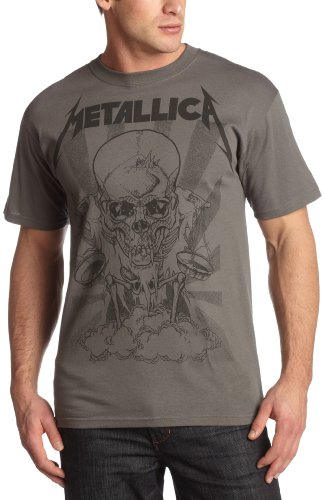 Bravado Men's Metallica Pushed Boris T-Shirt, Charcoal, Medium