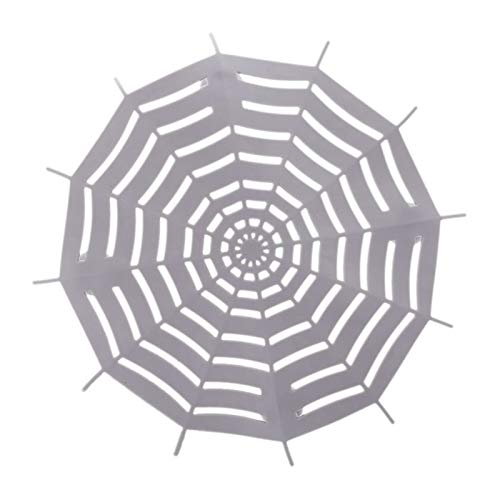 Hair Stoppers Catchers - Silicone Sink Filter Spider Net Bathroom Waste Strainer Drain Hair Catcher Stopper Stoppers - Drain Drain Stopper Halloween Case Strainer Shirt Stoppers Bathroom Bat]()