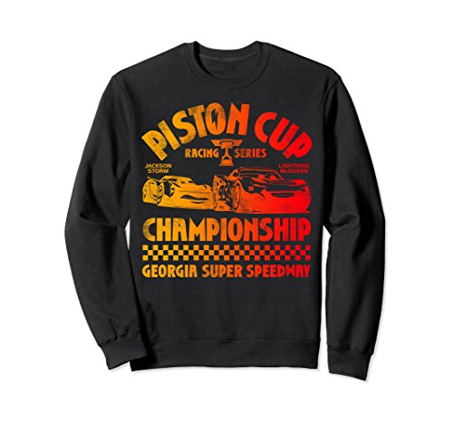 Unisex Disney Pixar Cars 3 Jackson Piston Cup Gradient Sweatshirt Small Black (Disney Cars Shirts For Adults)