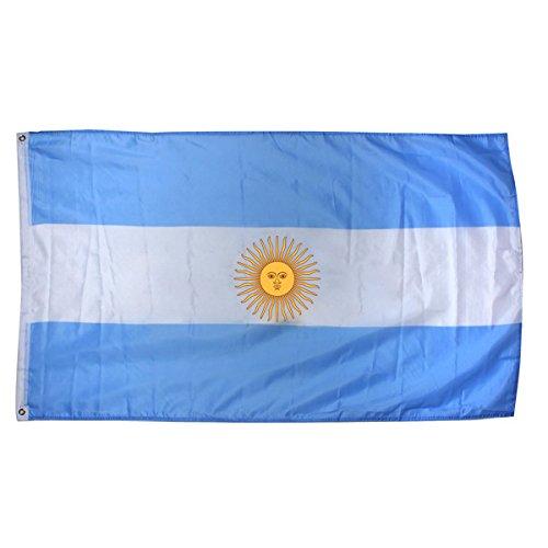 Gleader Grande 90x150cm 5 X 3FT tifosi nazionali Olimpiadi Sport bandiere con passacavo - Argentina bandiera