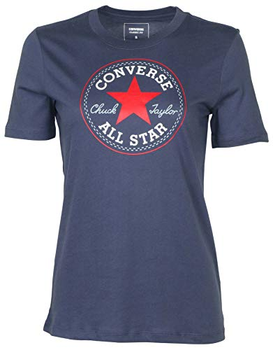 Converse Womens All-Star Chuck Taylor Patch Graphic Black T-Shirt Tee