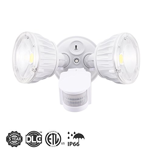 3. Homdox 20W Dual-Head Motion-Activated LED Outdoor Security Light