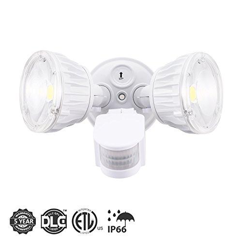 SecurityLight, 20W OutdoorMotionSensorLights 2500lm 5000K(Whitecolor) Spotlight360°Adjustable IP66WaterproofWallLightsforYardGardenDrivewayCarportsDoorStreetGarage