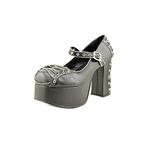 de Zapatos para 25 Pu mujer Schwarz Negro vestir CHARADE Demonia 1qCPnw4W