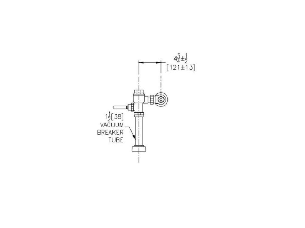 Zurn Z6200 Metroflush Flush Valve For Water Closets Zurn Industries Z6200-WS1-YB-YC