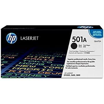 HP 501A (Q6470A) Black Original LaserJet Toner Cartridge