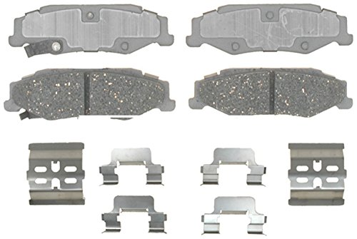 ACDelco 14D732CH Advantage Ceramic Rear Disc Brake Pad Set with Hardware ()