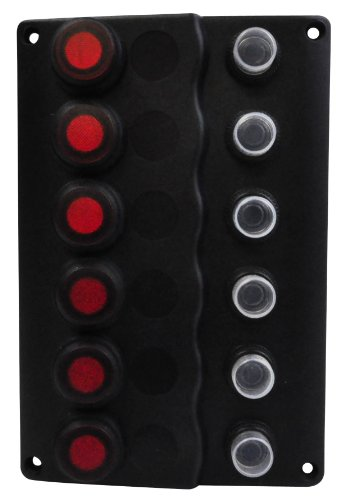 (SeaSense Waterproof 6 Gang Toggle Switch Wave Panel)
