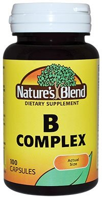 Nature's Blend B Complex, 100 Capsules (Pack of 12) by Nature's Blend