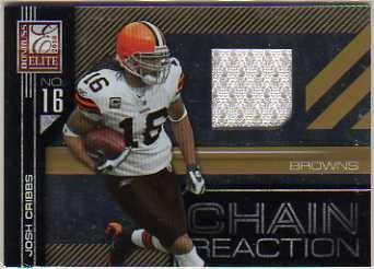Josh Cribbs Jersey - 2010 Donruss Elite Chain Reaction Jerseys #2 Josh Cribbs Game-Worn Jersey Card Serial #'d/299