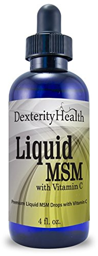 Liquid MSM Drops with Vitamin C, 4oz Bottle, Commonly Used to Treat Eye Floaters, Sterile MSM Eye Drops wtih Organic Ingredients, Dropper-Top Bottle Organic Drop