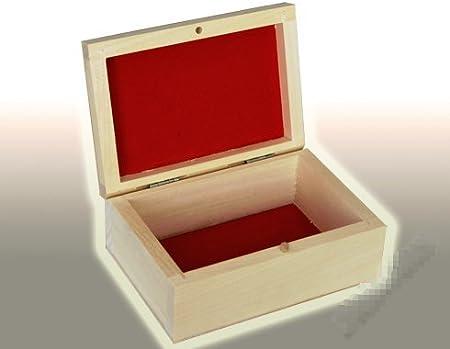 PL126 signicase madera caja flocado - perfecto para decoupage/manualidades caja de almacenaje: Amazon.es: Hogar