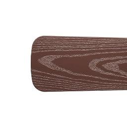 Quorum 5251313321, Five Brown Type 1 Outdoor Semi-Square Blades