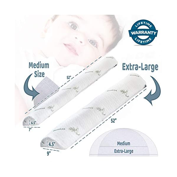DreamyPanda Toddler Bed Rail Bumper/Foam Guard for Bed - Extra Large 5